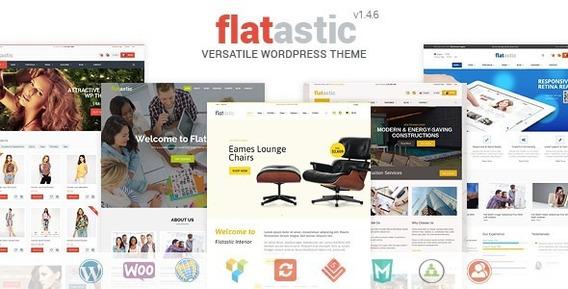 Flatastic Tema De Wordpress De Vários Fornecedores Versátil