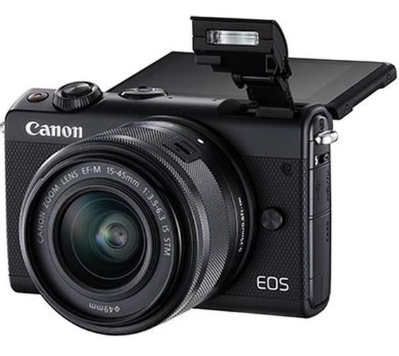 Câmera Canon Eos M100 C/ Lente 15-45mm 24.2 Mp + Cartão