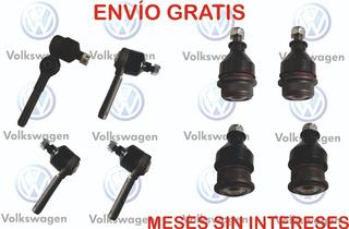 Kit Rotulas Y Terminales Direccion Vocho 74-03 1.600 8 Pzas