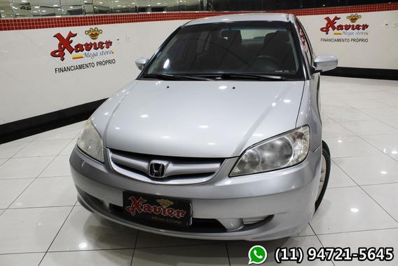 Honda Civic Lx 1.7 Aut Prata 2004 Financiamento Próprio 7674