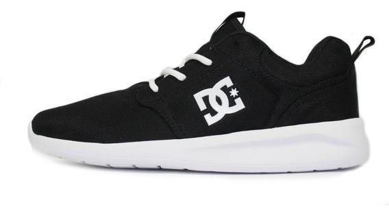 Tênis Skatista Dc Shoes Midway Preto/branco Original