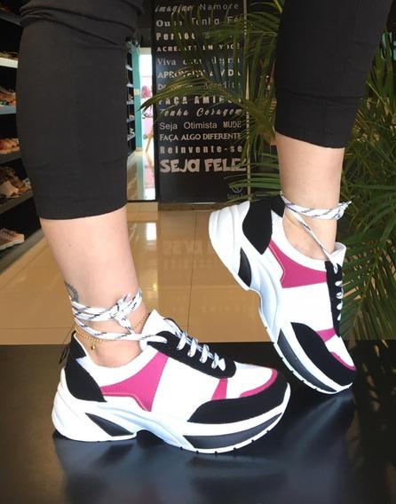Tênis Chunky Feminino Luxo Original Plataforma Sneaker