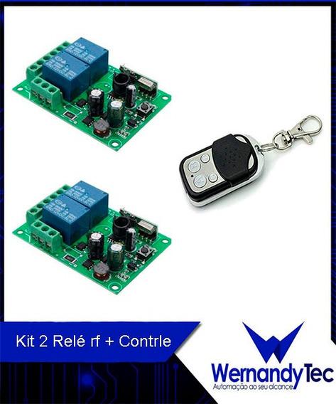 Kit 2 Módulo Rele Rf Dois Canais + Controle, Broadlink Comp.