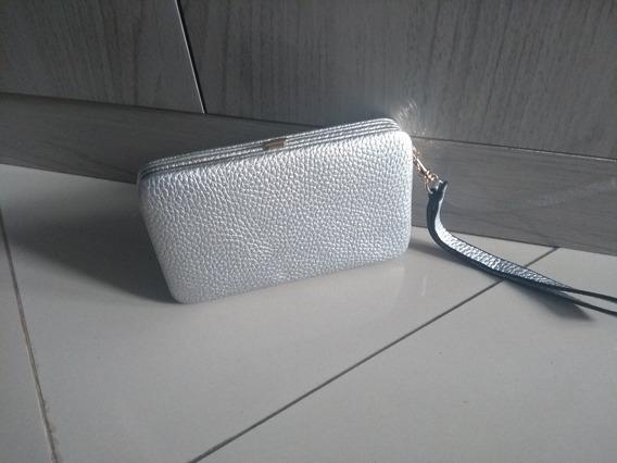 Bolsa Clucth Prata Luxo