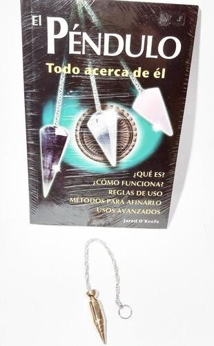 Imagen 1 de 5 de Péndulo De Metal Espacio Para Testigo Y Libro Muy Completo