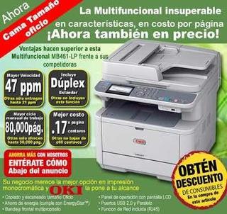 Impresora Multifuncional Oki Mb491+lp