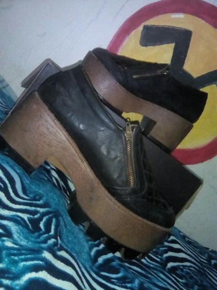 Zapatos Doble Cierre En Buen Estado Un Uso