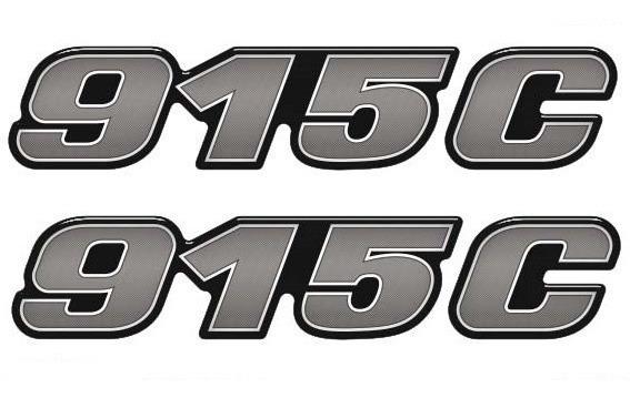 Kit Emblema Adesivo Caminhão Mercedes Benz 915 C Reticulado