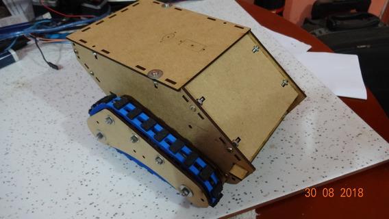 Kit Chassi Robô Orion Esteiras Estreitas Arduino Padrão Obr