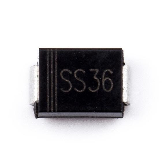 10 Pçs Diodo Ss36 Do-214ac Sma - 3a 60v - Sr360 Smd Schottky