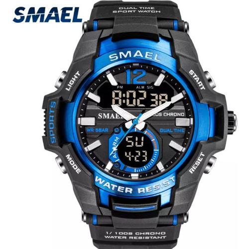Relógio  Esportivo Smael Original Azul