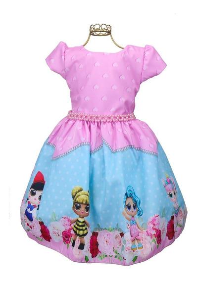 Vestido Lol Surprise Rara Festa De Aniversário Bonecas Lançamento Bn923