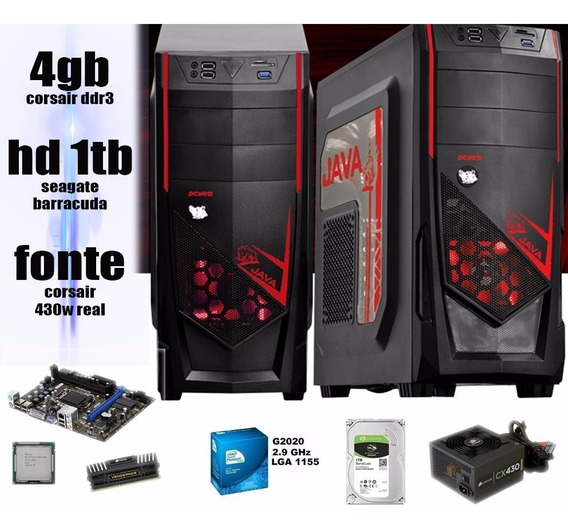 Computador Pc Gamer 4gb Corsair Hd1tb Fonte 430w Hd 6570 2gb