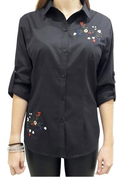 Camisa Bordada De Excelente Calidad 6 Colores!!! 3 Talles!!