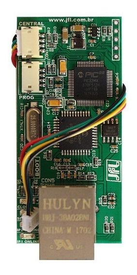 Modulo Ethernet Central Jfl Me-04 Via Internet App Celular