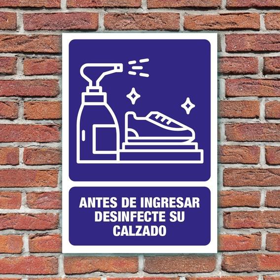 Señalamiento Antes De Ingresar Desinfecte Su Calzado 24x34cm
