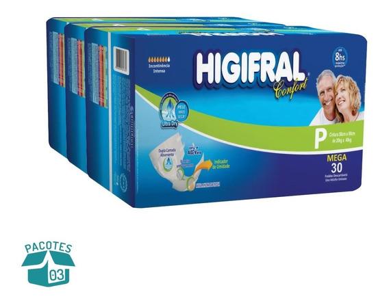 Fralda Geriátrica Higifral Confort Mega Com 3 Pacotes