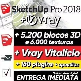 Curso Sketchup 2018 + Texturas + Vray 3.6 + Blocos + Plugins