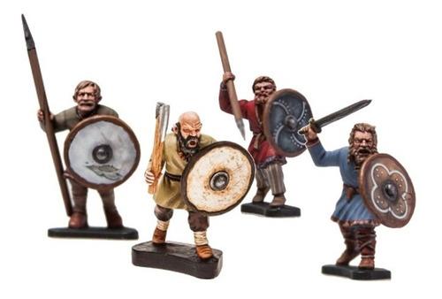 Imagem 1 de 4 de Cartela (5) Miniaturas Guerreiros Medieval Gbp 28mm