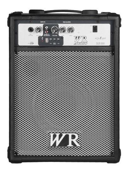 Caixa Multiuso Rg 330 Wr Audio Usb 8 Polegadas 50w