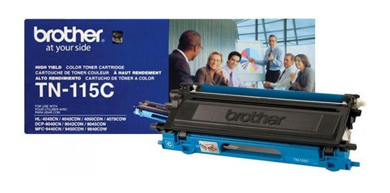 Toner Brother Tn 115c Azul + Original + Brinde + Nota Fiscal