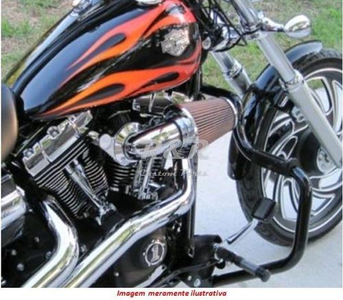 Protetor De Motor Softail Fx1600 Harley Cromado Ou Preto
