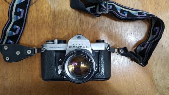Câmera Fotográfica Asahi Pentax Sp Spotmatic + Acessórios