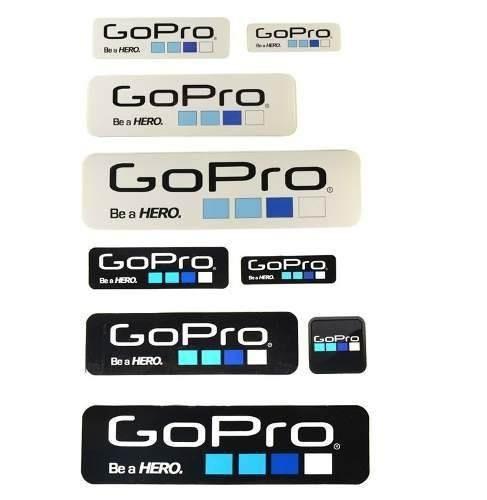 Gopro Go Pro Kit Adesivos Diversos Tamanhos - 10 Unidades
