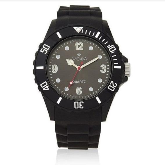 Relógio Masculino Nowa De Borracha Preto Nw0521k Barato