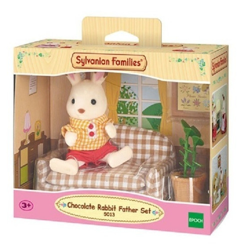 Sylvanian Families - Papa Conejo Chocolate C/ Sofa - 5013sy