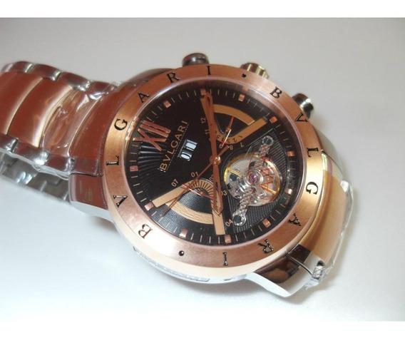 Relógio Bg66 Bv Iron Man Rose Automático Linha Misto Oferta