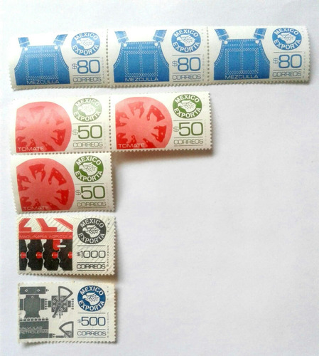 Imagen 1 de 5 de Timbres Postales Coleccion Mexico Exporta