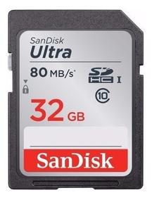 Cartão Sandisk Sdhc Ultra 80mb/s 32gb C10 Full Hd 3d U3 4k