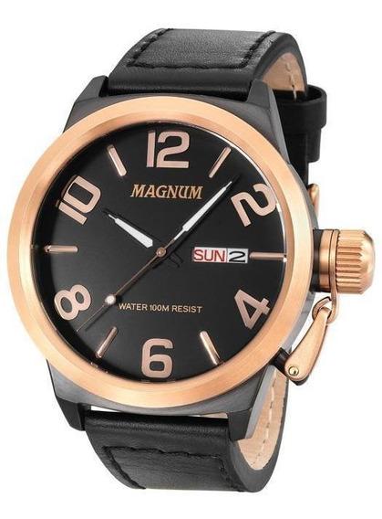 Relógio Magnum Military Em Couro Ma33399u