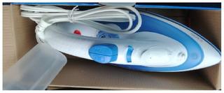 Plancha Euroline De Vapor Azul Capri Con Antiadherente Rocío