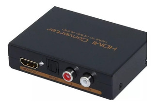 Adaptador Splitter Hdmi A Hdmi + Audio Rca + Optico Spdif