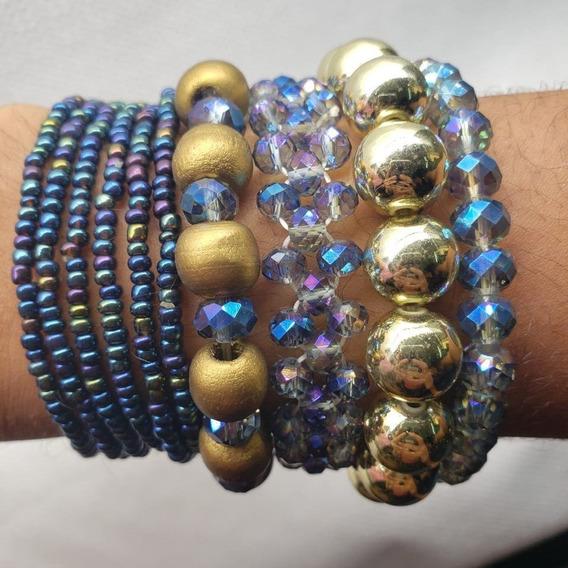 Kit Pulseira De Miçangas Bracelete Feminino Promoção