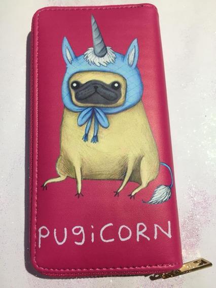 Billetera Pug Perritos Unicornio