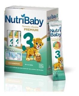 Leche Nutribaby 3 Premium + De 12 Meses Estuche X 15 Sticks