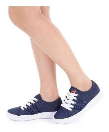 Tenis Sapatenis Jeans Feminino Casual Plataforma Dijean 3td1