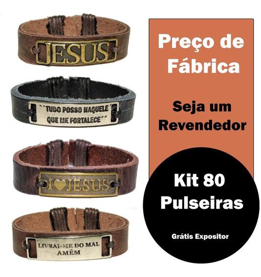 Kit 80 Pulseira Gospel Atacado Igreja Campanha Brinde