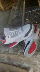 Tenis Jordan Retro 3 Fired Red