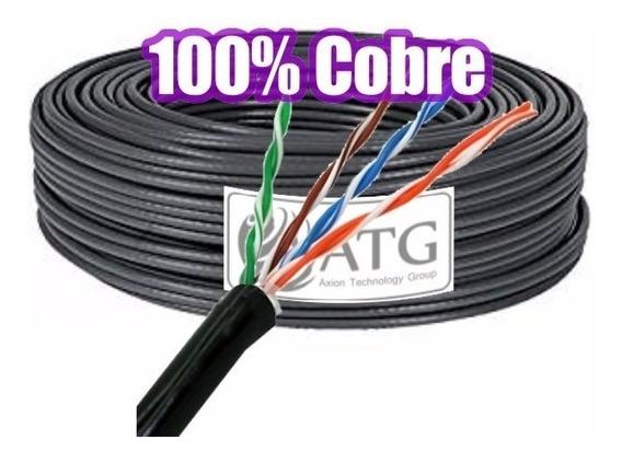 Cable Utp 100% Cobre Atg Cat5e Exterior Redes Cctv 50mts