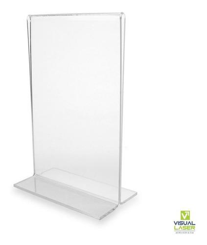 Display Acrílico Kit 10 10x15 A6 T Invertido Porta Folder