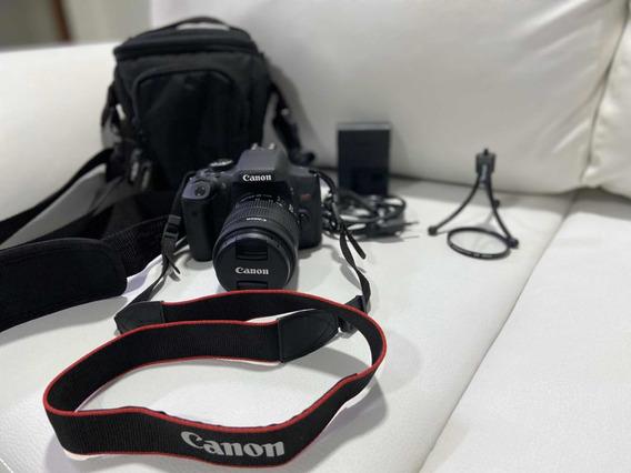 Máquina Fotográfica Modelo Eos Rebel T6i, Lente 18-55mm