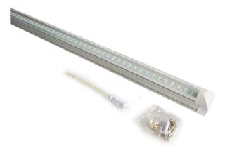 10 Lampara Doble Aluminio Led Techo Tubo 24w T8 /e