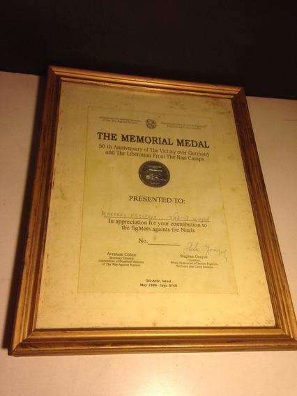 Medalha 50 Anos Libertação Campos De Concentração Nazista