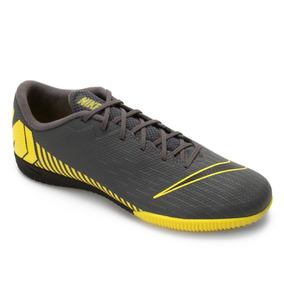 Tenis Futsal Nike Mercurial Vapor Academy Chumbo/limão