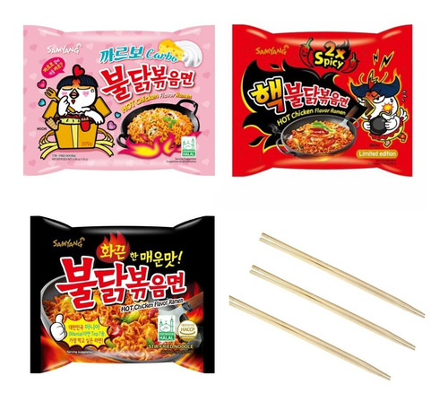 03 Lamen Coreano Samyang Sabor Frango Hot Chicken Ramen