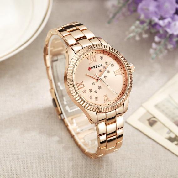 Mulheres Relógio De Aço Inoxidável Calendário De Quartzo Top
